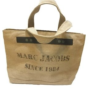 NWT Marc Jacobs burlap tote bag
